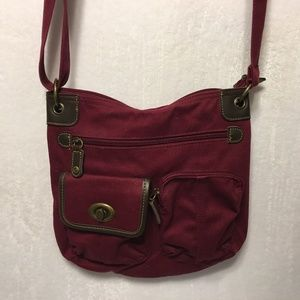 5/$20 Essex Burgundy Maroon Crossbody Bag Purse